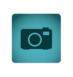 blue emblem camera icon vector image