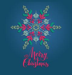 boho snowflakes card vector image