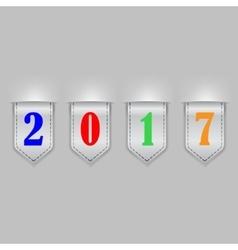 Bookmark ribbons new year vector image