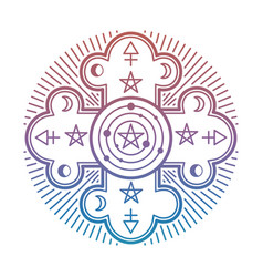 Bright mystery occult esoteric symbol isolated vector