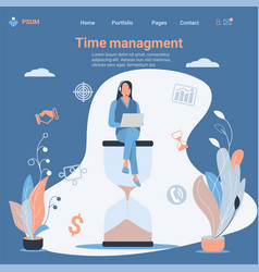 business concept time management and procrastin vector image