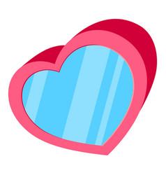 cartoon pink heart box vector image