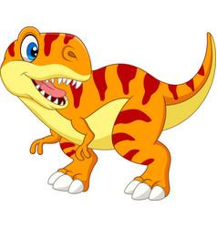 cartoon tyrannosaurus isolated on white background vector image