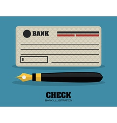Check bank design vector