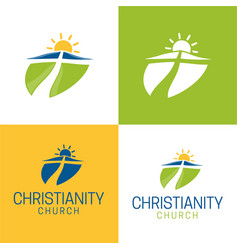 Christianity logo and icon vector