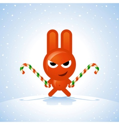Christmas Rabbit vector image