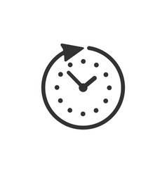Clock time icon isolated on white background vector
