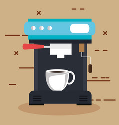 coffee machine with a cup can be used for home vector image