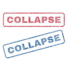 Collapse textile stamps vector