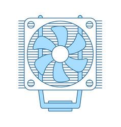 Cpu fan icon vector