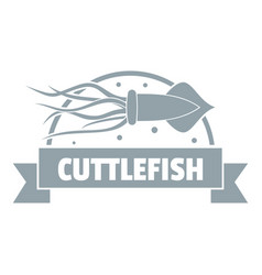Cuttlefish shop logo simple gray style vector