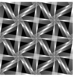 Design seamless monochrome triangle pattern vector