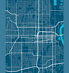 detailed map omaha city linear print map vector image