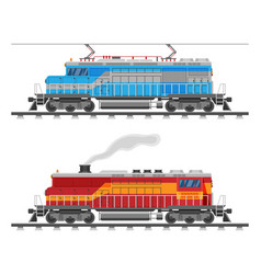 diesel or electric locomotive isolated on white vector image