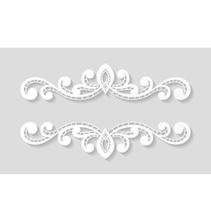 Elegant paper retro floral border vector image