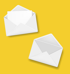 envelope collection yellow background vector image
