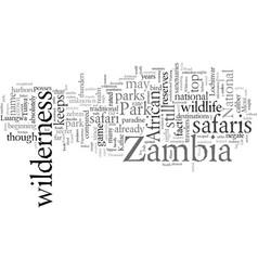 Experience life at zambia wilderness safari vector