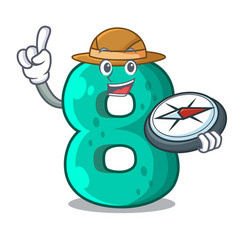 Explorer number eight made with cartoon shaped vector