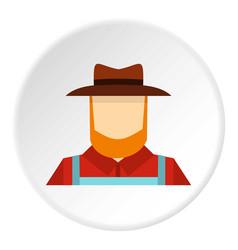 Farmer icon circle vector