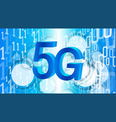 faster speed internet 5g programming software vector image