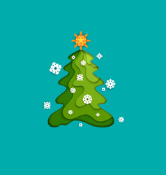 fir tree and snow vector image
