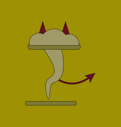 Flat icon on background tornado devil vector