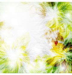 flower grunge2 vector image vector image