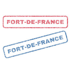 Fort-de-france textile stamps vector