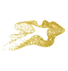 Gold-ribbon vector