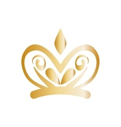 Golden ornamental insignia vector