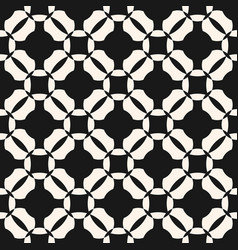 Grid seamless pattern black and white abstract vector