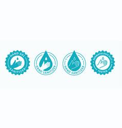 Hand gel sanitizer icon vector