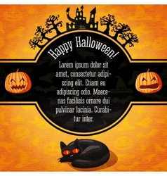 Happy halloween banner with greetings and sample vector