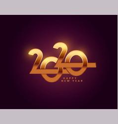 happy new year 2020 golden text wallpaper design vector image
