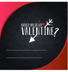 happy valentines day invitation card design vector image
