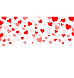 heart shaped confetti falling down simple vector image