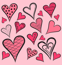 hearts-pattern vector image