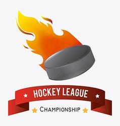 hockey design vector image