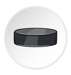 Hockey puck icon cartoon style vector image