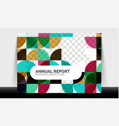Horizontal a4 business flyer annual report vector