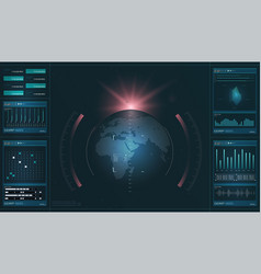 hud hi-tech futuristic display tech and science vector image