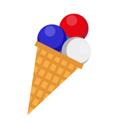 Ice cream icon flat style 4th july concept vector