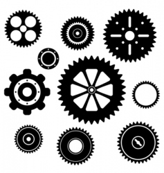 industrial gear wheel set vector image