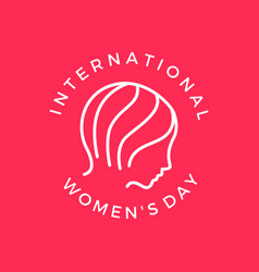 international womens day banner vector image