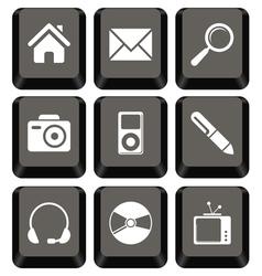 Keyboard icon set vector image
