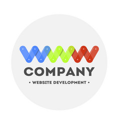 Logo web design and website development computer vector