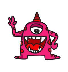 Monster cartoon icon vector