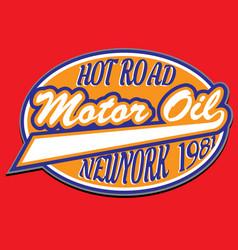 motorcycle racing typography t-shirt graphics vector image