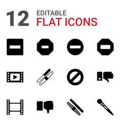 negative icons vector image