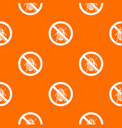 No potato beetle sign pattern seamless vector